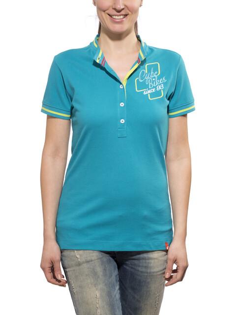 Cube 93 Polo Shirt Women karibik blau